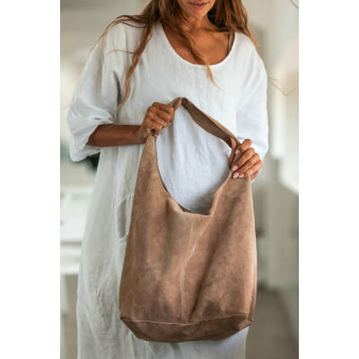Hasított bőr táska