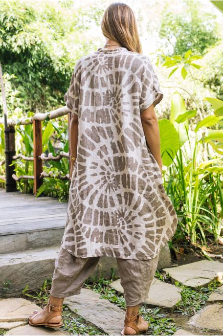 Batikolt len tunika
