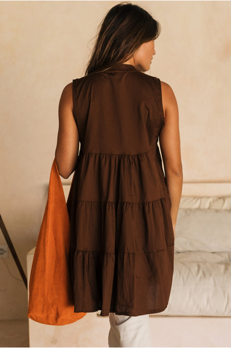 Ujjatlan fodros vászon ruha