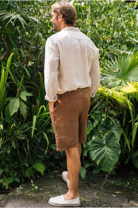 Len rövidnadrág