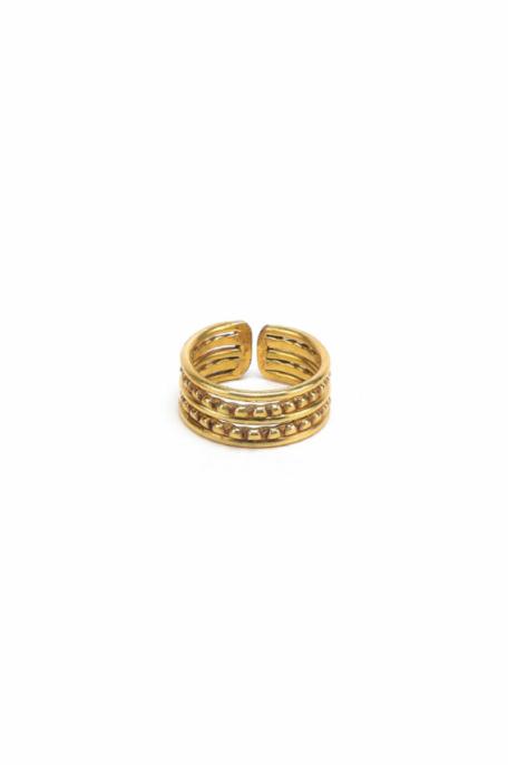 Állítható koronamintás gyűrű
