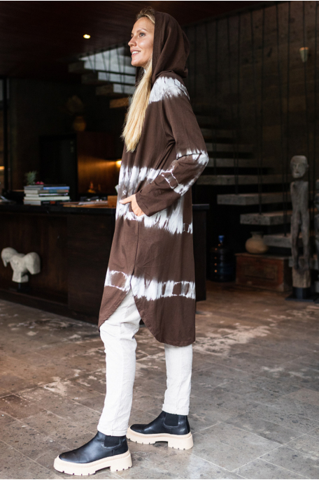 Kapucnis batikolt tunika