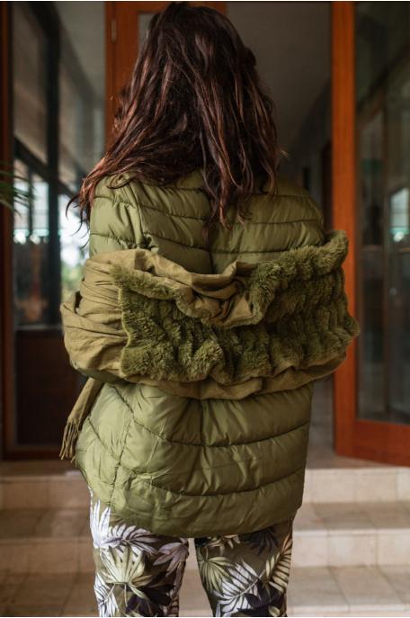 Rövid steppelt kabát