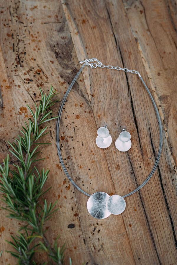 Dupla medálos szett ezüst színű- 2 részes