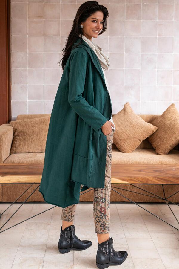 Átgombolós pamut kabát