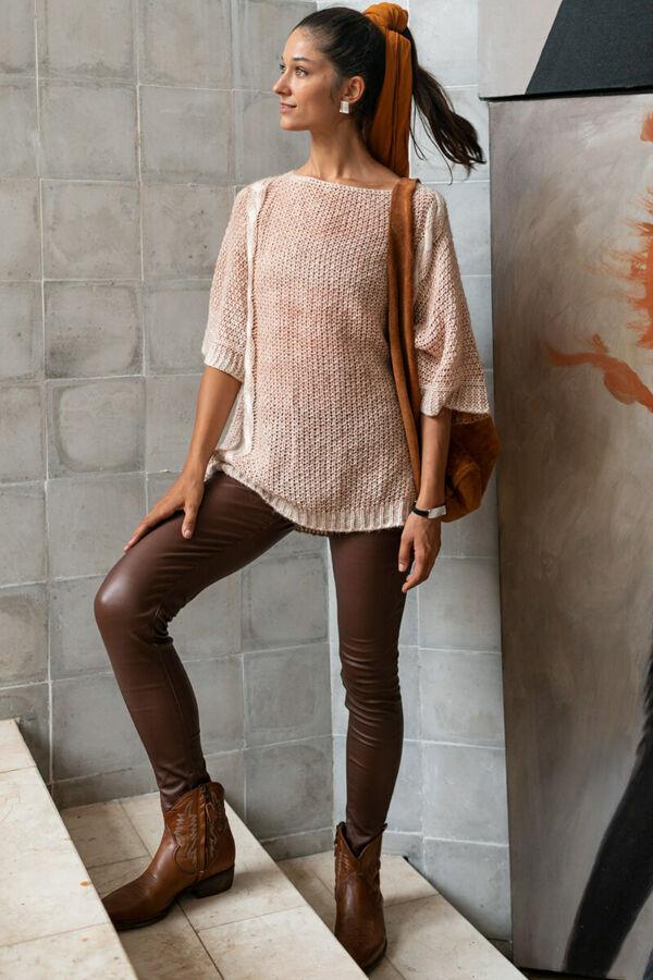 Koptatott csavart pulóver