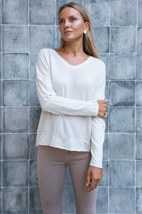 Elől kötött hatású pamut póló