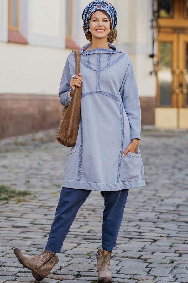 Frotír ruha varrásokkal