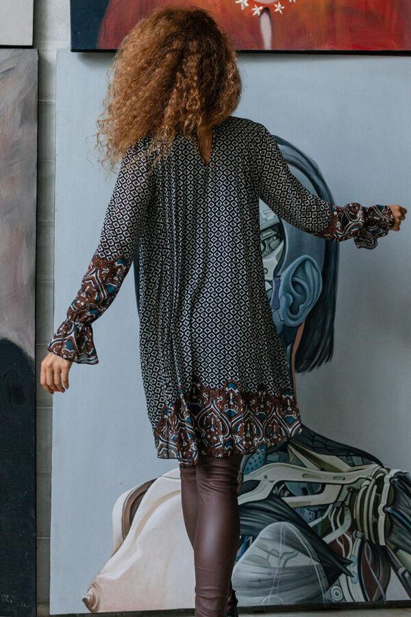 Muszlin pliszírozott ruha