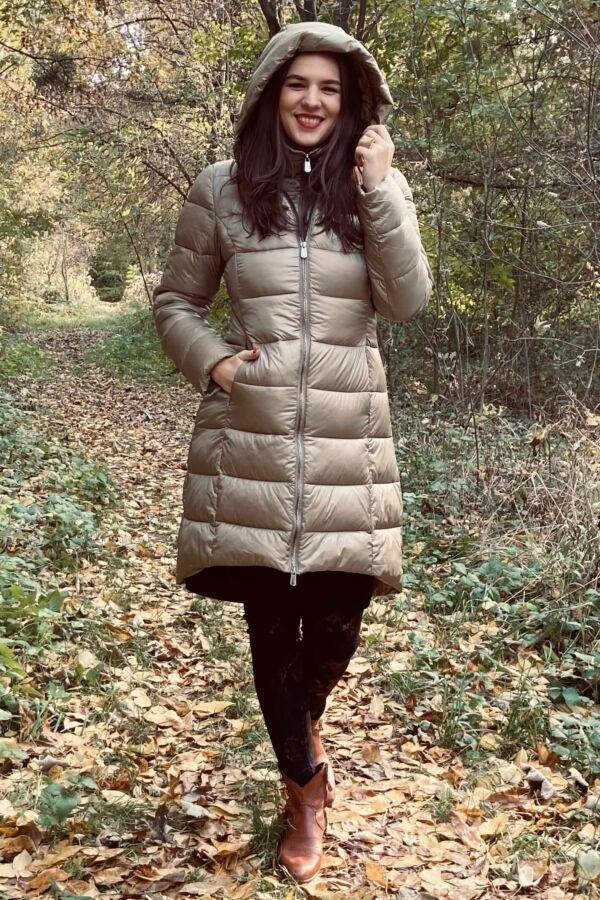 Steppelt hosszú kabát