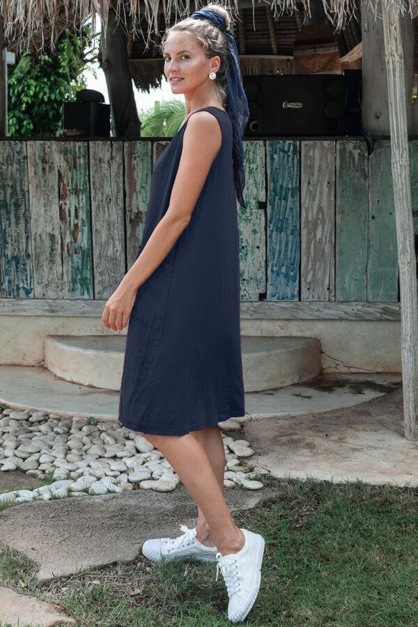 Pamut / len bohém ruha