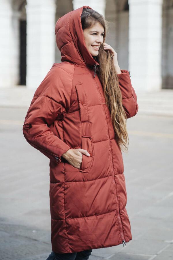 Steppelt kabát cipzáros ujjal