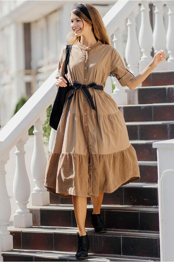 Fodros ruha bársony betéttel